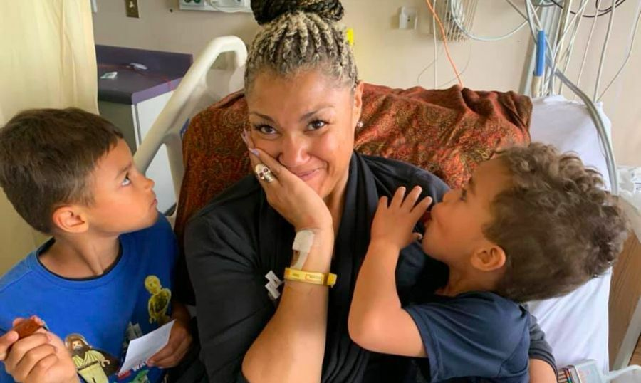 20191003 Measha Brueggergosman with sons 900x538