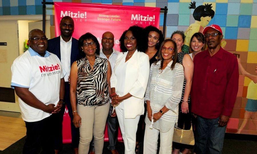 Mitzie Hunter with Family