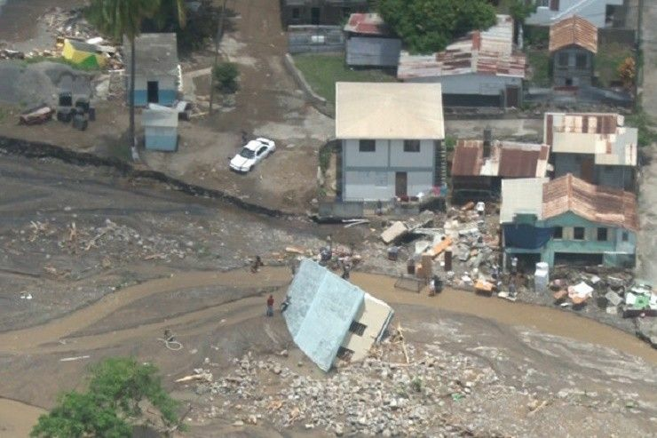 Dominica damage after hurricane