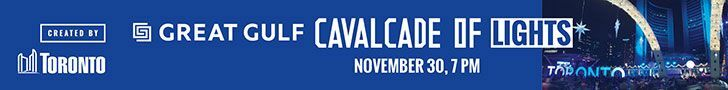 City of Toronto - Cavalcade of Lights Leaderboard Banner