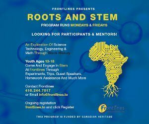 Weston Frontlines - Roots and Stem Program