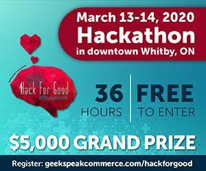 2020 geekspeak Hack For Good - Big Box Banner