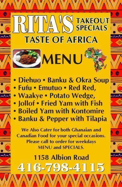Rita's Taste of Africa
