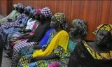 Some of the Nigerian girls who escaped their kidnappers attend a meeting with the Borno state governor in Maiduguri on June 2. (Jossy Ola / Associated Pres