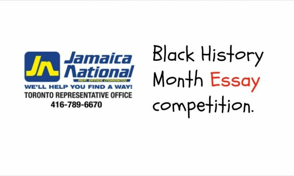 Argumentative Essay Thesis Jamaica National Building Societys Toronto Representative Office Is  Holding A Black History Month Essay Competition What Is The Thesis Of An Essay also Writing A High School Essay Jamaica National Building Societys Toronto Representative Office Is  Making A Thesis Statement For An Essay